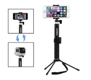 Foneso 自撮り棒 Bluetooth 伸縮自在 シャッターボタン付き 三脚付き